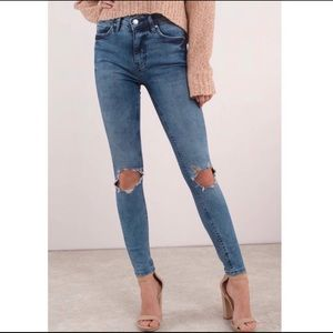 Free People- Women's Busted Knee Skinny Jeans 27L